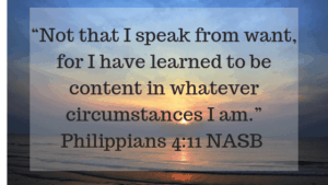 Contentment in Whatever Circumstances | Follower of One