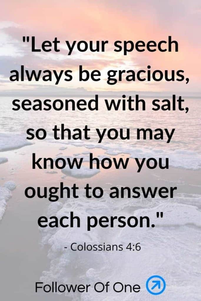 Colossians 4:6 | Salt and Being Light in a Pandemic | Follower Of One